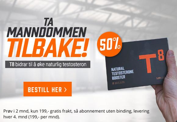 T8 med 50% rabatt. Øk dine testosteronnivåer naturlig